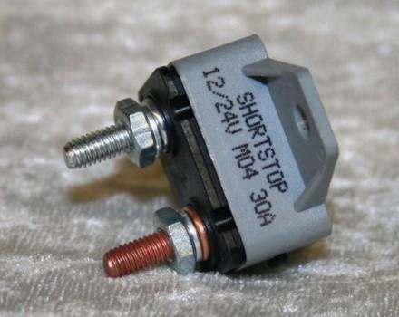 Manual Reset Breaker 30amp - #46373 Bus Part - Electrical