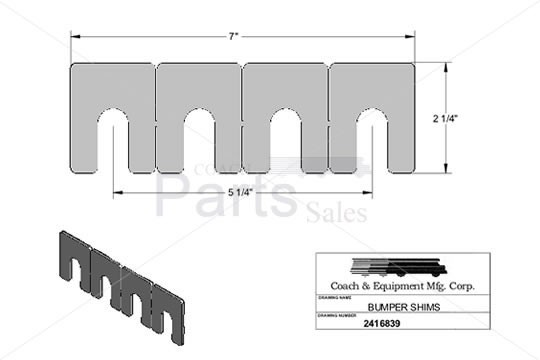 Coach and Equipment - Bumper Shims