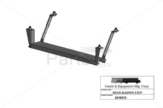 Coach and Equipment - Bumper Step Assembly